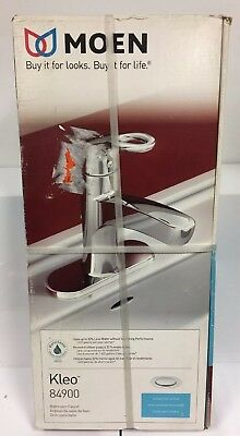 MOEN Kleo 84900 Single Hole Single Handle Mid-Arc Chrome Bathroom Faucet NEW