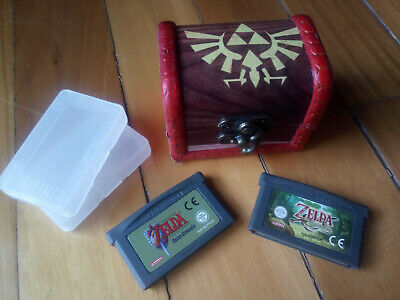LOTE GBA ZELDA Game Boy Advance COFRE + LINK TO THE PAST + A MINISH CAP