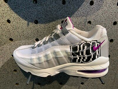 6434b1e779 NIKE AIR MAX 95 /Wolf Grey Black Purple City Pride Houston Sz 4Y-13 ...