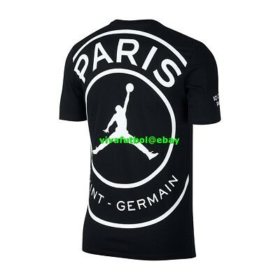 89805063c3f NEW NIKE MENS Jordan x Paris Saint-Germain PSG SS Logo T-Shirt Tee ...
