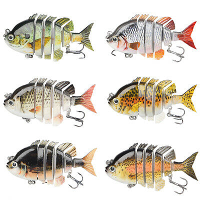 Sea Fishing Lure Multi Jointed 6 Sections Swimbait Tackle 0.5oz/14g/8cm CHK