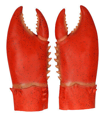 Pair Latex Crab Claws Animals Fancy Dress Costume Accessory