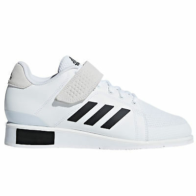 promo code a1bb0 02b86 adidas Power Perfect III Mens Adult Weightlifting Powerlifting Shoe  White Black