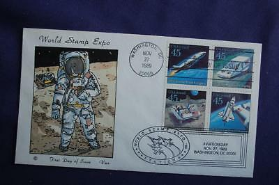 Futuristic Mail Delivery 45c Stamps FDC Van HP Cachet Sc#C122-25 13291 Dual Post