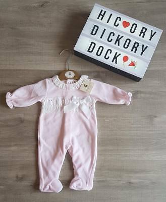 fb621fb2aed0 PINK MINTINI VELOUR Sleepsuit and bodice Spanish Baby Girl Outfit 3 ...