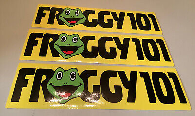 3x FROGGY 101 Sticker The Office TV Show Michael Scott Dwight Desk Decal Radio