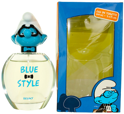 Blue Style Brainy by The Smurfs For Kids EDT Cologne Spray 3.4oz New In Box