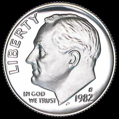 1982 S Roosevelt Dime Gem Deep Cameo CN Clad PROOF US Mint Coin Beautiful!