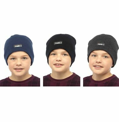 Childrens Boys Girls Kids Heatguard Thermal Genuine Thinsulate Warm Beanie Hat