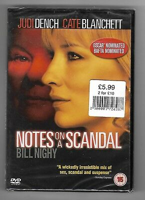 Notes on a Scandal - New, sealed DVD - Free Delivery