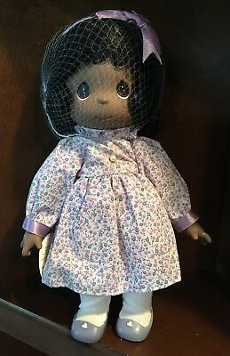 """Precious moments """"Name Your Own"""" African American Doll # 1385 - NEW"""