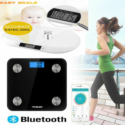 Bluetooth Electronic Digital Body Fat Scale Baby Scales Bathroom Gym Weight LCD