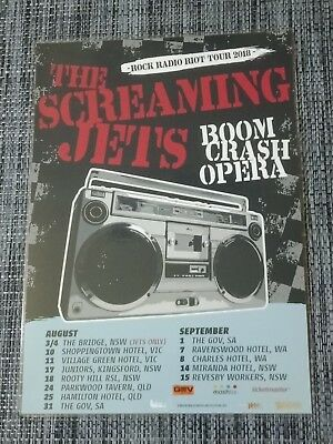 The Screaming Jets - 2018 Australia -  Laminated Promo Tour Poster - New Release