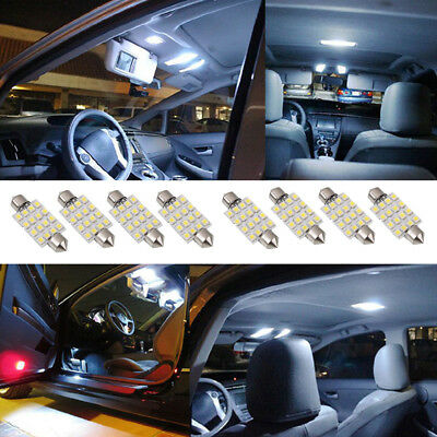 10pcs white 42mm 16SMD Car LED Festoon Dome Interior Cargo Light Bulbs 211 578