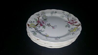 Booths Chinese Tree Bread Plates Set of 5