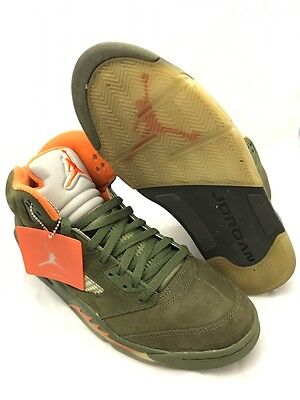 bcbe1ddcff8 USED DS NIKE Air Jordan 2CLEAN Boots Army Olive Orange 2006 Size 11 ...