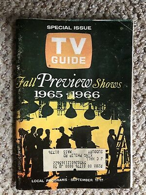 1965 -1966 Fall PREVIEW SHOWS TV GUIDE New England Edition