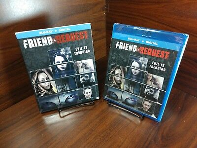 Friend Request (Blu-ray+HD Digital,2018)Slipcover-NEW-Free Shipping w/Tracking