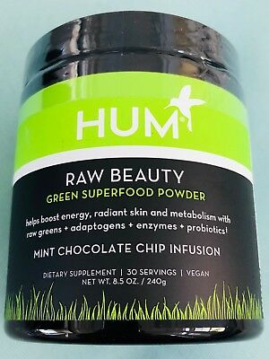 HUM Nutrition - Raw Beauty Greens Superfood - Mint Chocolate Chip Infusion