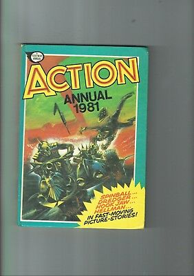 Fleetway Action Annual 1981 unclipped, stories,comic strips etc BR2