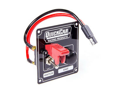 QUICKCAR RACING PRODUCTS 3-3/8 x 3-5/8 in Dash Mount Switch Panel P/N 50-803