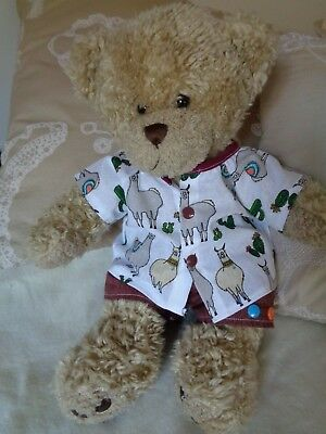 Clothes to fit boys Build a bear 30cm Pumpkin Patch teddy shirt and shorts set