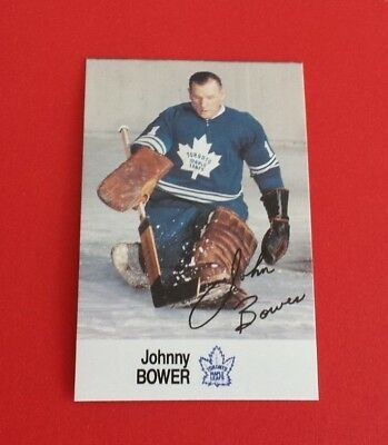 1988/89 Esso All-Star Collection Hockey Johnny Bower Card*Toronto Maple Leafs*
