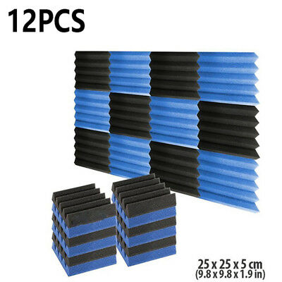 New Sound proof Sound-absorbing Acoustic Foam Wedge Studio 12pcs High-quality