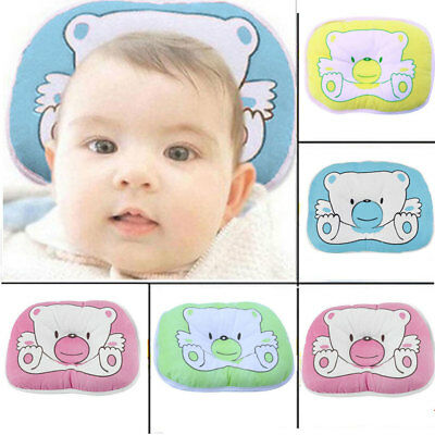 UK Baby Cot Pillow Preventing Flat Head Neck Syndrome for newborn Girl Boy Safe