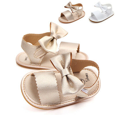 Infant Newborn Baby Girl Soft Sole Crib Shoes Toddler Anti-slip Summer Sandals