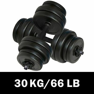 Dumbbell Weight Set Home Fitness Barbell Exercise Adjustable Plate 2x15kg H2Q1