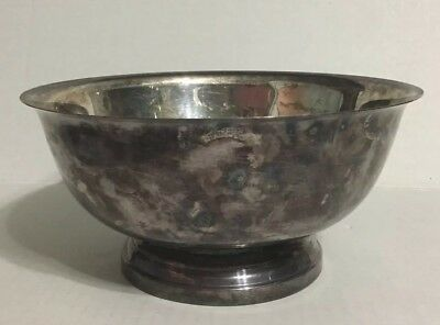 """Paul Revere Reproduction Silverplate Bowl Newport By Gorham 8"""""""