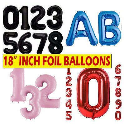 """Silver Gold 18"""" inch Alphabet/Number Letter Foil Balloons Birthday Party Balloon"""