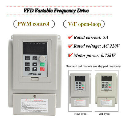 AC220V Single-phase Variable Frequency Drive Speed Controller 0.75kW Motor VFD