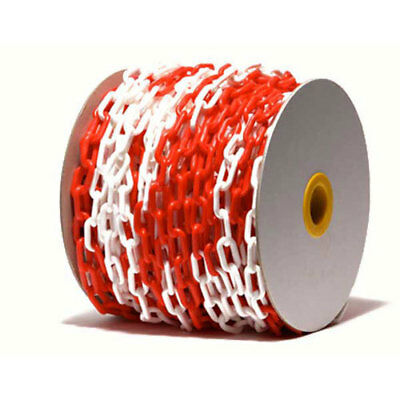 Red & White Plastic Chain - Protect, Guide, Prohibit, Cordon 5M - 10M