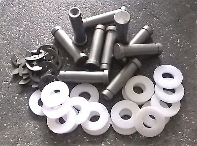 Border Tattoo Machine Coil Cores 10X 32Mm M4 Thread 1018 Steel +Acrylic Washers