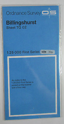 1959 old vintage OS Ordnance Survey 1:25000 First Series map TQ 02 Billingshurst