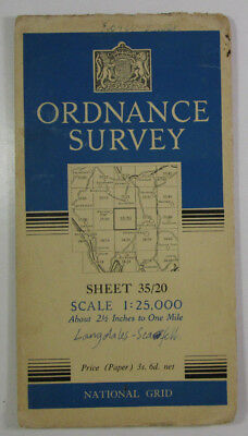 1947 Old OS Ordnance Survey 1:25000 First Series Prov map NY 20 Sca Fell 35/20