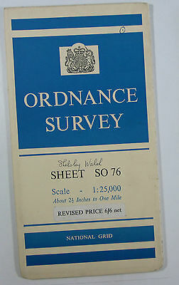 1960 old vintage OS Ordnance Survey 1:25000 First Series Prov map SO 76 Witley