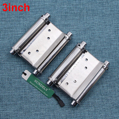 2Pcs 3'' Cafe Saloon Door Swing Self Closing Double Action Spring Hinge FAST