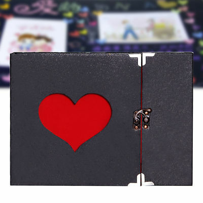 10 Inch Love Heart Hollow Out Design DIY Scrapbook Album 30 Pages Gift case