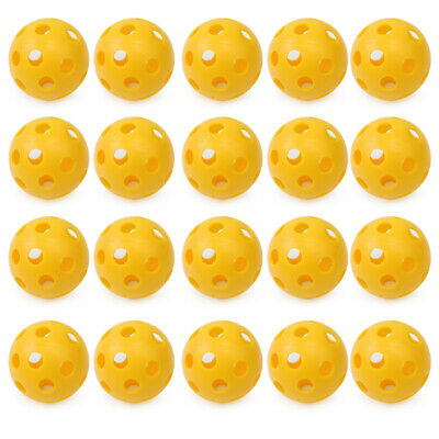 20Pcs High Quality Whiffle Airflow Hollow Plastic Practice Tennis Golf Balls New