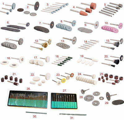 Rotary Multi Tool Accessories / Bits - Polishing, Grinding, Cutting, Deburring