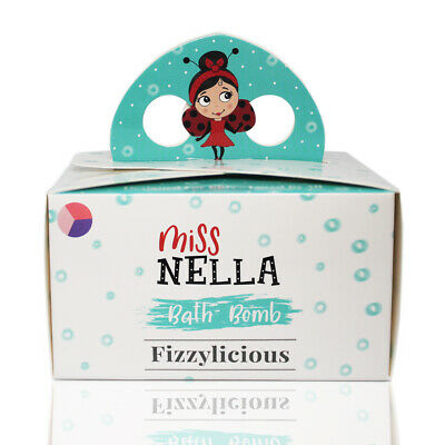 Miss Nella Kids, 5 Fizzy Bath bombs, Hypoallergenic & Fragrance Free, Safe & Fun