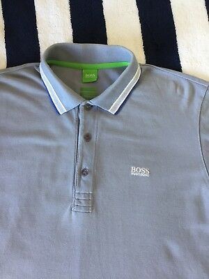27caf9d49 Mens Hugo Boss Green Label 'Paddy' Light Blue Modern Fit Polo Shirt In Large