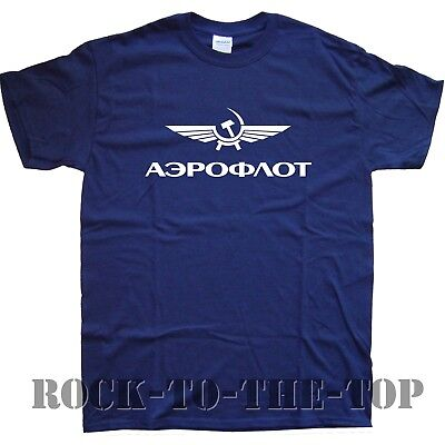 AEROFLOT new T-SHIRT in 15 Colours sizes S M L XL XXL  russian airlines