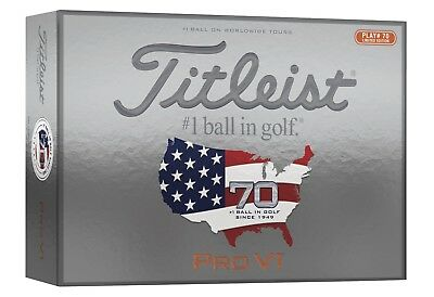 Titleist Pro V1 Limited Edition Golfball | High Number 70 | 12er Pack | weiß