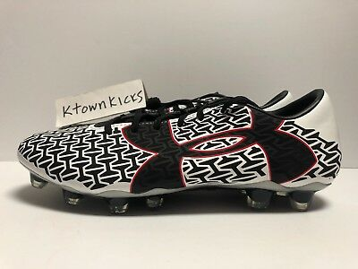 huge selection of 61918 579f3 Under Armour Clutchfit Force 2 FG Soccer Cleats White Black Men s Size 9.5