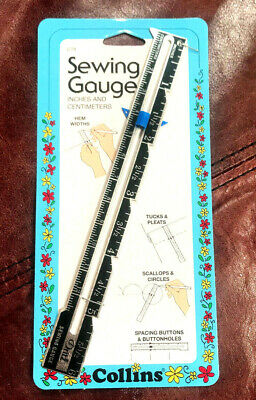 Collins/dritz Metal Sewing Gauge / Ruler ~ #c79 ~ 6 Inches & 12.7 Centimeters