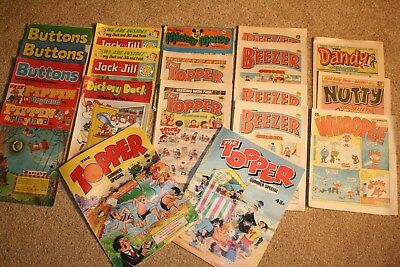 Collection of 1980s comics:- Buttons, Dandy, Whoopee, Beezers, Nutty, Toppers+++